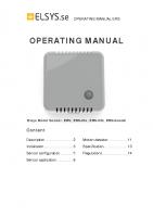 OPERATING MANUAL ERS_A5_V3